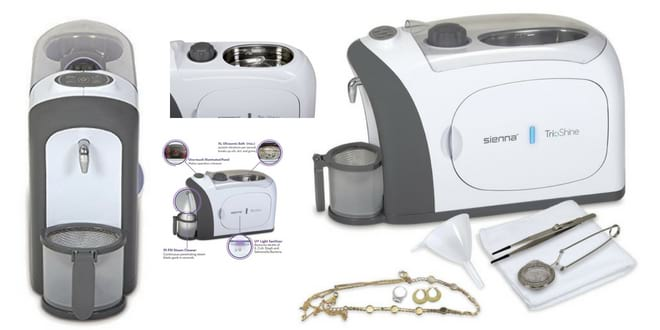 Trioshine Ultrasonic Steam and UV Jewelry Cleaner